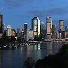 Brisbane City & River At Dawn. Queensland, Australia. by Ralph de Zilva