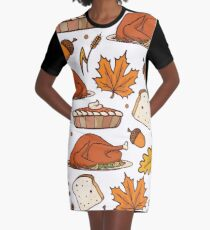 THANKSGIVING Graphic T-Shirt Dress