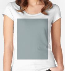 Bold Silver Blue solid colour Women's Fitted Scoop T-Shirt