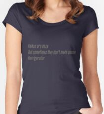 The Flash (Cisco's shirt) - Haikus are easy, but sometimes they don't make sense Refrigerator  Women's Fitted Scoop T-Shirt