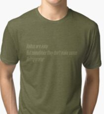 The Flash (Cisco's shirt) - Haikus are easy, but sometimes they don't make sense Refrigerator  Tri-blend T-Shirt