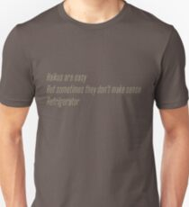 The Flash (Cisco's shirt) - Haikus are easy, but sometimes they don't make sense Refrigerator  Unisex T-Shirt
