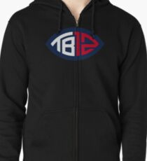 goat brady - the superbowl goat patriots Zipped Hoodie