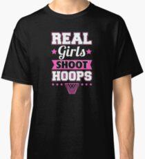 Real Girls Shoot Hoops (pink) Classic T-Shirt
