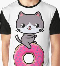 Cat Kawaii Donut Cute Graphic T-Shirt