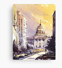 State Capitol building at sunset- Harrisburg (USA) Canvas Print