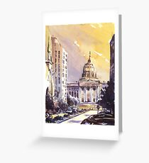State Capitol building at sunset- Harrisburg (USA) Greeting Card