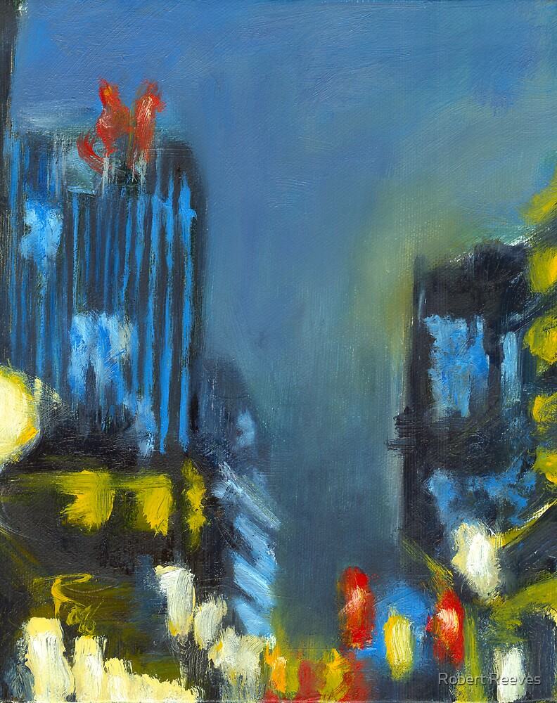 Untitled in Blue by Robert Reeves