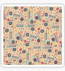 Retro Music Collection Sticker