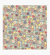 Retro Music Collection Photographic Print