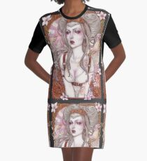Steampunk Sexy Pin Up Graphic T-Shirt Dress