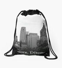 Explore. Discover.  Drawstring Bag
