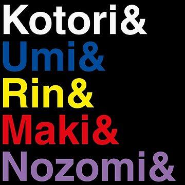 Honoka & Eli & Kotori & Umi & Rin & Maki & Nozomi & Hanayo & Nico. by sky-alive