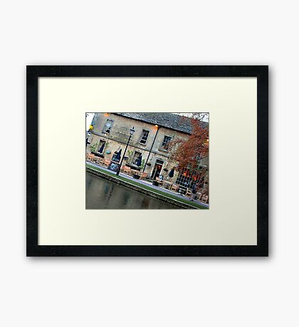 Bourton on the Water Angled Framed Print