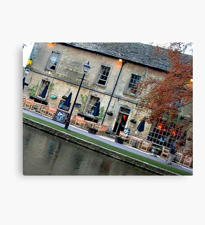 Bourton on the Water Angled Canvas Print