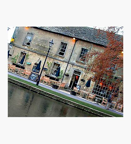Bourton on the Water Angled Photographic Print