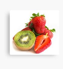 Strawberries and kiwi composition Canvas Print