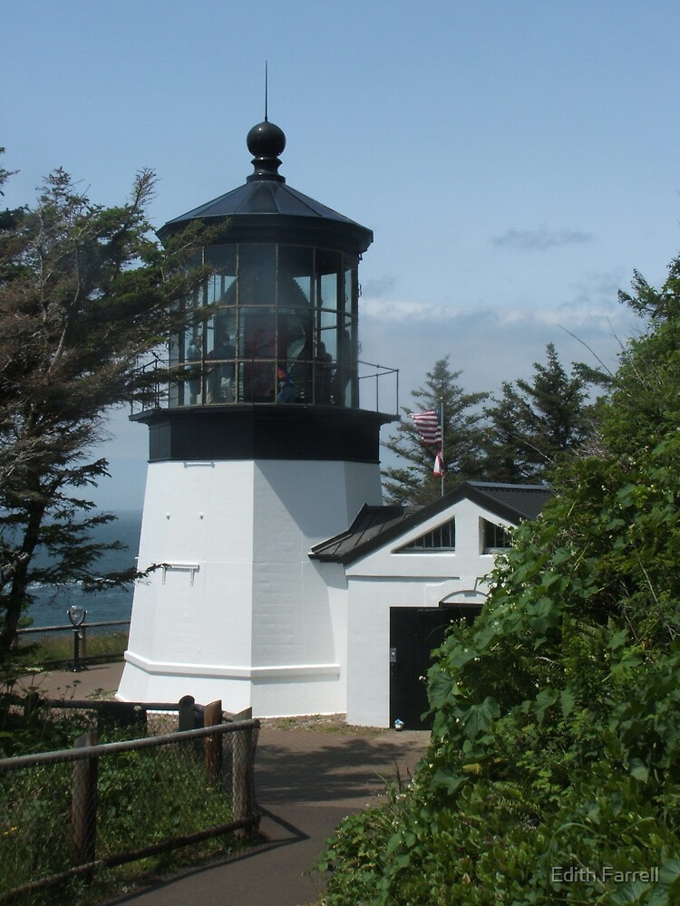 Cape Meares Lighthouse by Edith Farrell