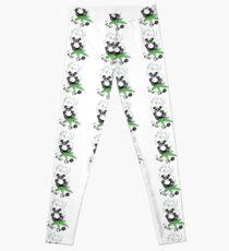 I Like Bio Panda Ganja Weed Vegan Art  Leggings