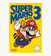 Super Mario Bros. 3 Re-Colored  Photographic Print