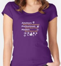 Amateurs worry about equipment Women's Fitted Scoop T-Shirt