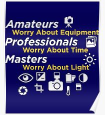 Amateurs worry about equipment Poster