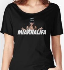 MIA KHALIFA Women's Relaxed Fit T-Shirt