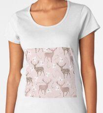 Blushing reindeer Women's Premium T-Shirt