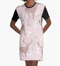 Blushing reindeer Graphic T-Shirt Dress
