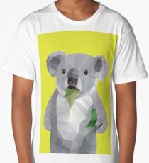 Koala with Koalafication Polygon Art Long T-Shirt