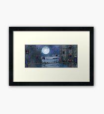Sci-Fi Landscape Framed Print