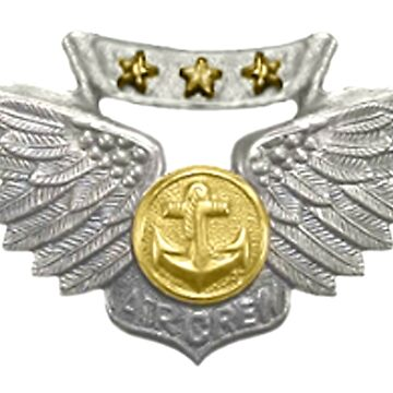 USMC Aviation Insignia, Marine Corps Combat Aircrew, Badge by TOMSREDBUBBLE