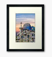 Gaudi Facade Framed Print