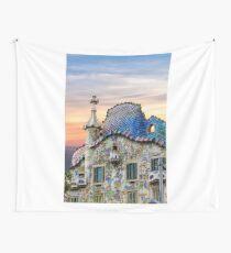 Gaudi Facade Wall Tapestry