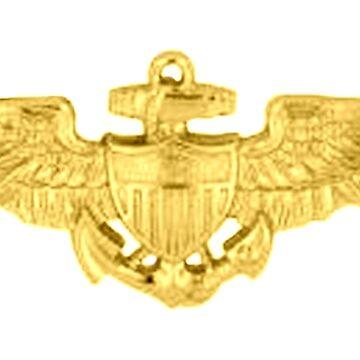 USMC, Aviation Insignia, Naval Aviator, Badge by TOMSREDBUBBLE