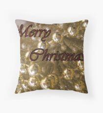 Merry Christmas Card Throw Pillow