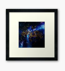 Time Lord Writing (blue) Framed Print