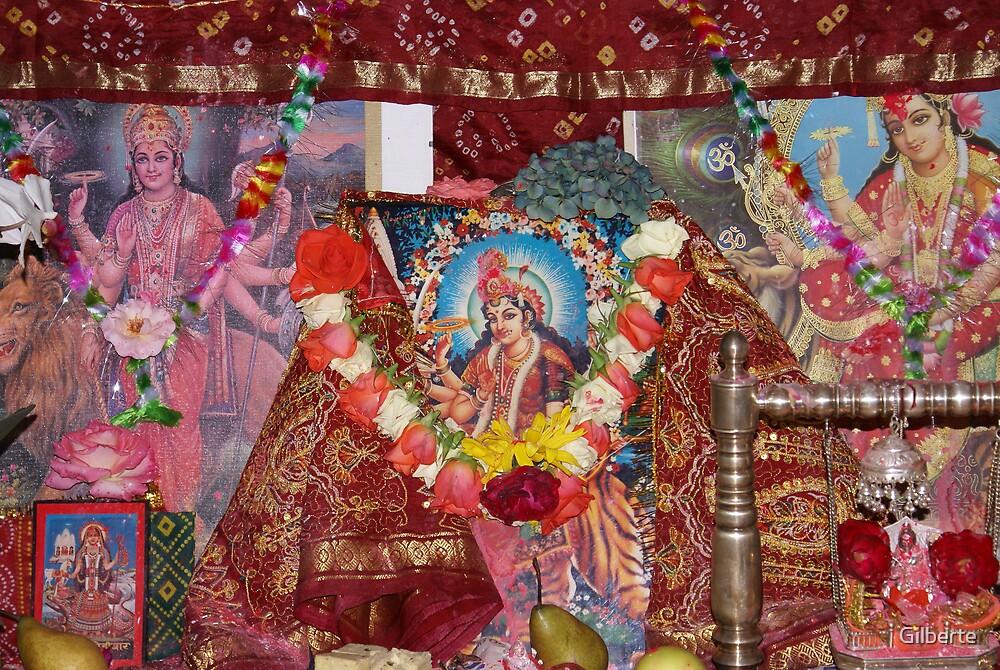Navrathri - the Altar by Gilberte
