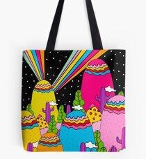 Night Sky Rainbow Tote Bag