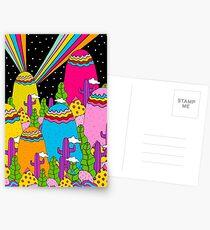 Regenbogen des nächtlichen Himmels Postkarten
