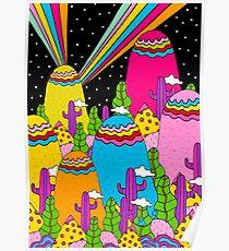 Night Sky Rainbow Poster