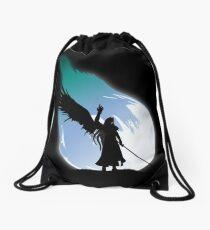 One winged angel Drawstring Bag