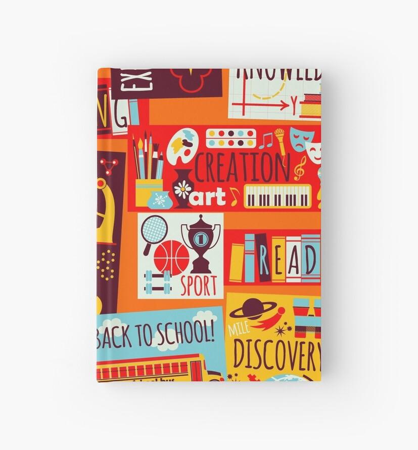Cuadernos de tapa dura «Regreso a la escuela, escuela para niños ...