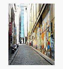 Laneway with Graffiti in Melbourne, Australia Photographic Print