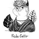 #meowdernart - Frida Catlo by mariapaizart