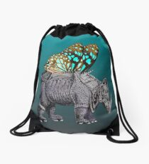 Between the Past and the Future. Drawstring Bag