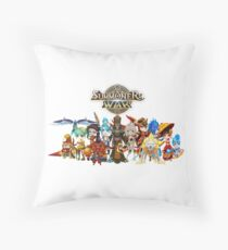 Monster Group Photo Throw Pillow