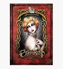 CABARET cover - Art Nouveau framed Pin up Photographic Print