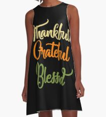Thankful Grateful Blessed T-Shirts A-Line Dress