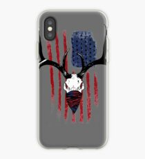 American Flag Buck Skull with Bandana Art iPhone Case